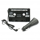 Car Audio Line-In Cassette Adapter with USB Car Charger (3.5mm Jack)