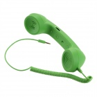 Radiation Prevention Retro Telephone Style Headset for Iphone/Cellphone - Green (3.5mm Audio Jack)