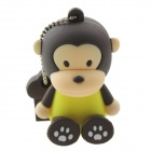 Lovely Cartoon Monkey Style USB 2.0 Flash Memory Drive Stick - Deep Brown + Yellow (32GB)