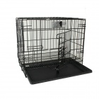 Folding Iron Wire Pet Cage with Plastic Spraying Tray (Single Door)