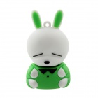 Lovely Mashimaro Shaped USB 2.0 Flash Memory Drive Stick - Green + White (32GB)