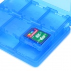 28-in-1 Protective Game Card Cartridge Case - Sapphire Blue
