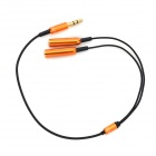 3.5mm Male to Dual Female Splitter Cable - Black + Golden (25cm)