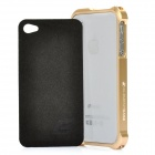 Protective Aluminum Alloy Bumper Frame for iPhone 4S - Golden