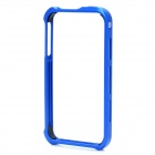 Protective Aluminum Alloy Bumper Frame with Back Sticker for iPhone 4S - Blue