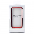 Stylish Aluminum Alloy Protective Bumper Frame Set for Iphone 4 / 4S - Black + Red