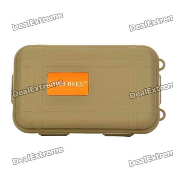 Hard Silicone Tool Gadgets Storage Box - Coyote Tan spark storage bag portable carrying case storage box for spark drone accessories can put remote control battery and other parts