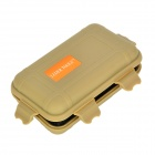 Hard Silicone Tool Gadgets Storage Box - Coyote Tan