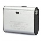 Portable 5000mAh Emergency Battery Pack w/ 1-LED Flashlight for PS Vita - Silver