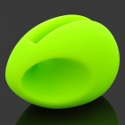 Egg Shaped Silicone Stand Audio Amplifier for iPhone 4 / 4S - Green