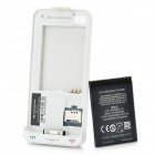 Dual SIM Dual Standby Protective Back Case with Battery for iPhone 4 / 4S - White