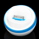 Stylish Half Ball Shaped USB Sync/Charging Docking Station Cradle for iPhone 4 / 4S - Blue + White