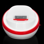Stylish Half Ball Shaped USB Sync/Charging Docking Station Cradle for iPhone 4 / 4S - Red + White