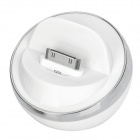 Stylish Half Ball Shaped USB Sync/Charging Docking Station Cradle for iPhone 4 / 4S - Silver + White