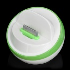 Stylish Half Ball Shaped USB Sync/Charging Docking Station Cradle for iPhone 4 / 4S - Green + White