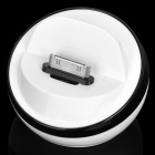 Stylish Half Ball Shaped USB Sync/Charging Docking Station Cradle for iPhone 4 / 4S - Black + White