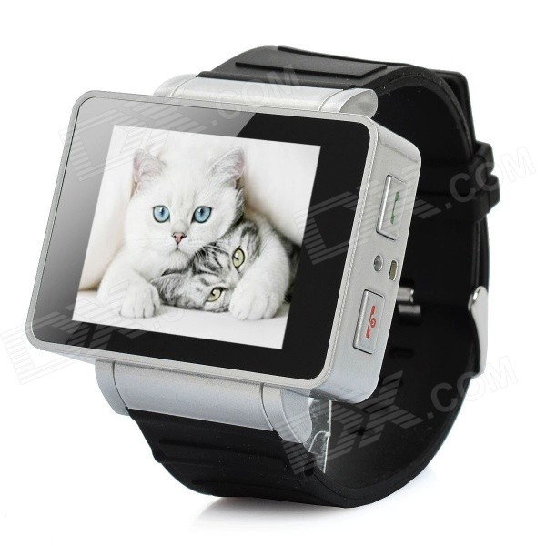"i5 GSM Wrist Watch Phone w/1.8"" Resistive Screen, Quad-Band, Single-SIM and FM - Black"