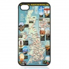 London Olympic Torch Route Pattern Protective Plastic Cover Case for iPhone 4 / 4S