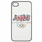 2012 London Olympic Games Logo Protective Plastic Cover Case for iPhone 4 / 4S - White