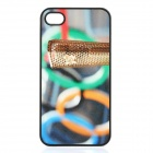 London Olympic Torch Pattern Protective Plastic Cover Case for iPhone 4 / 4S