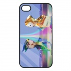 London Olympic Mascots Pattern Protective Plastic Cover Case for iPhone 4 / 4S