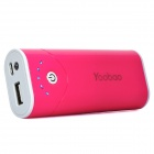 Yoobao Externe 5200mAh Emergency Charger W / LED-Taschenlampe für iPhone / iPad / Handy - Deep Pink