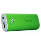 Yoobao Externe 5200mAh Emergency Power Charger W / LED-Taschenlampe für iPhone / iPad / Handy - Grün