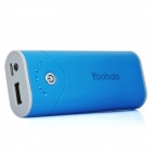 Yoobao Externe 5200mAh Emergency Power Charger W / LED-Taschenlampe für iPhone / iPad / Handy - Blue