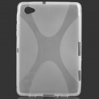 Protective TPU Back Case for Samsung P6800 - Transparent White