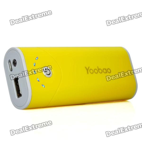 Yoobao Externe 5200mAh Emergency Power Charger W / LED-Taschenlampe für Handy + More - Gelb