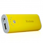 Yoobao External 5200mAh Emergency Power Charger w/ LED Flashlight for Cell Phone + More - Yellow