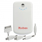Yoobao External 8400mAh Emergency Power Charger w/ LED Flashlight for iPhone/iPad/Cell Phone - White