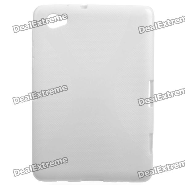 Protective TPU Back Case for Samsung P6800 - Ivory