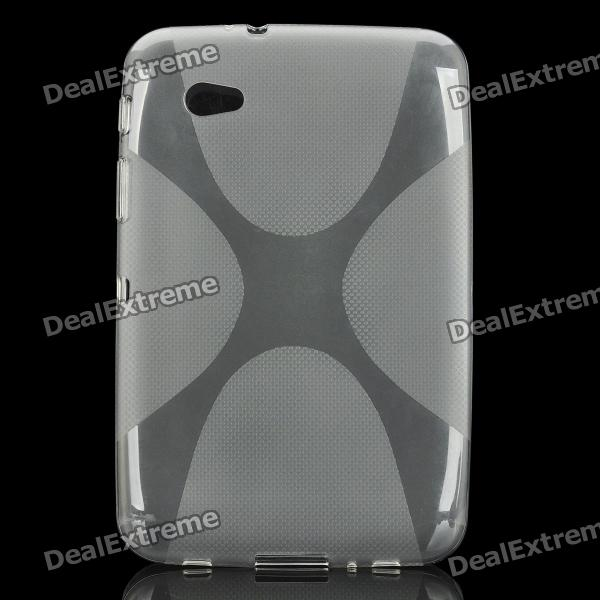 Protective TPU Case Cover for Samsung P6200 Galaxy Tab 7.0 Plus - Transparent Grey