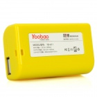 YOOBAO YB-611 Portable 2600mAh Battery Charger w/ Adapters  for Cell Phone + More - Yellow