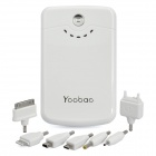 Yoobao External 11200mAh Emergency Charger w/ LED Flashlight for iPhone/iPad/Cell Phone - White