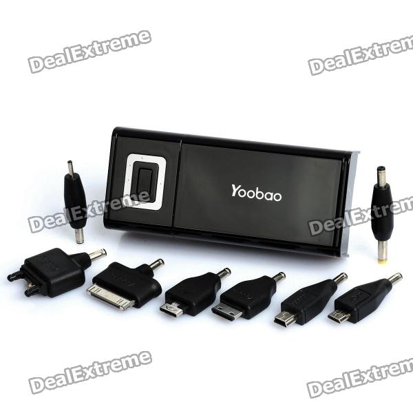 Yoobao External 4800mAh Emergency Power Charger w/ LED Flashlight for iPhone/iPad/Cell Phone - Black