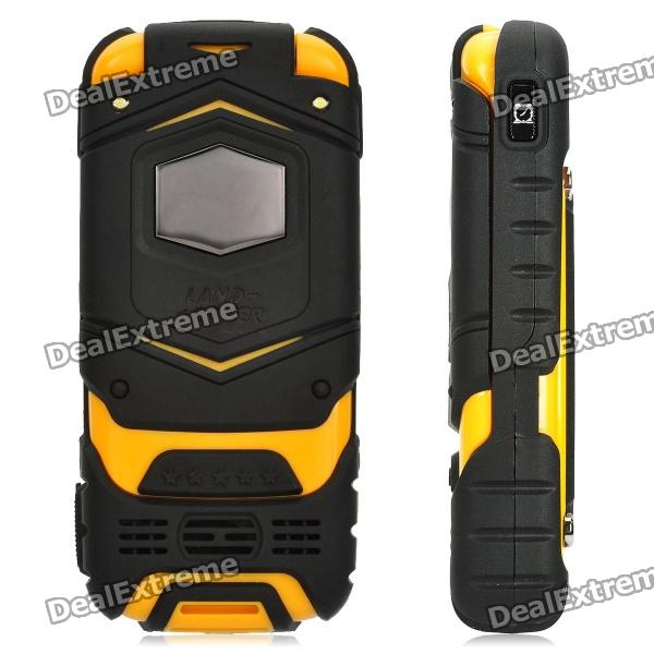 "LV599 GSM Flip Phone w/ 2.0"" Screen, Quad-Band, Dual-SIM and FM - Yellow"