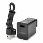 USB AC Power Adapter w/ Charging Cable for Samsung P6800 / P7500 / P7300 / P6200 - Black