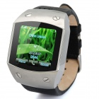 "K820 GSM Wrist Watch Phone w/ 1.5"" Resistive, Quad-Band and Single-SIM - Silver + Black"