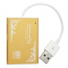 Multi-in-One USB 2.0 SD / TF / MS Card Reader - Golden + White