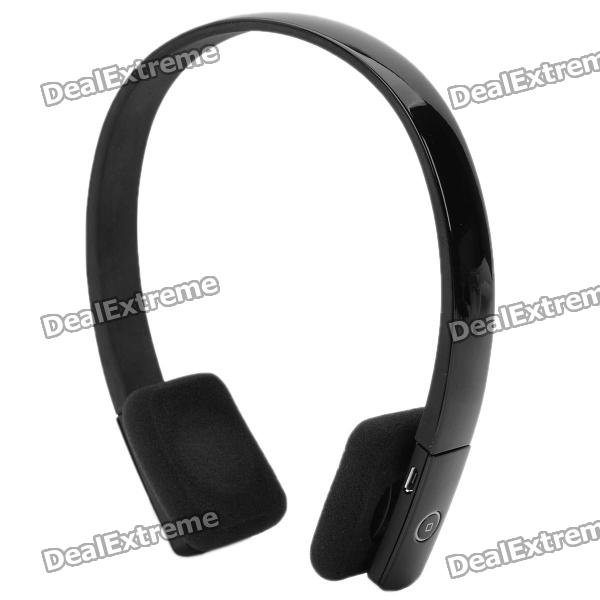 Stylish Rechargeable Bluetooth V3.0 + EDR Stereo Handsfree Headset - Black (4-Day Standby)