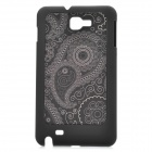 Protective ABS + Cloth Case for Samsung i9220 - Black