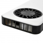 Mini Portable USB Powered Rechargeable Fan - White + Black
