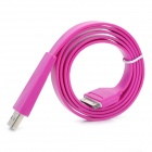 Flat Design USB Sync / Charging Cable for iPhone 4 / 4S / iPad / iPad 2 / The New iPad - Purple