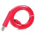 Flat Design USB Sync/Charging Cable for iPhone 4 / 4S / iPad / iPad 2 / The New iPad - Red