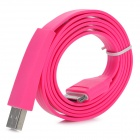 Flat Design USB Sync/Charging Cable for iPhone 4 / 4S / iPad / iPad 2 / The New iPad - Deep Pink