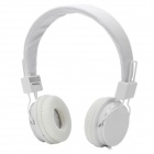 Stylish Adjustable Headphone Headset w/ Microphone - White (3.5mm-Plug / 150cm-Cable)