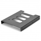 Aluminum Alloy 2.5&quot; SSD HDD to 3.5&quot; Drive Rack Bracket - Black
