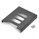 "Steel 2.5"" SSD HDD to 3.5"" Drive Rack Bracket - Black"
